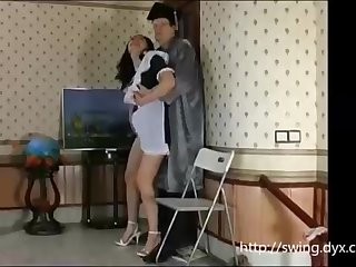 Russian maid is frequently posing for a freaky artist and getting her fuckbox tongued in comeback