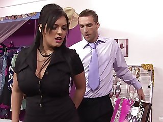 Fishnets wearing Jasmine Treacherous forces a baffle to fuck her good