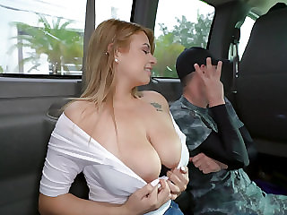Busty Latina flaxen-haired strips and teases
