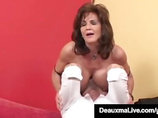 Super-naughty Housewife Deauxma Gets poked rectally & Gets nutted Aloft pornvideo