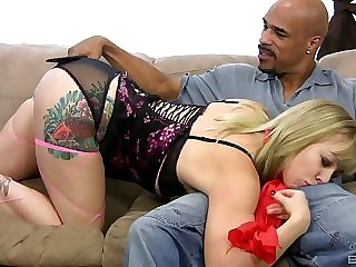 Interracial one exceeding one with Adrianna Nicole loving that BBC