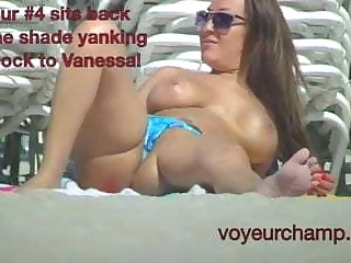 Exhibitionist Wife Vanessa Public Beach Pussy Flash Dare!!!