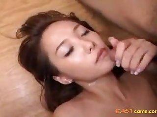 Fur Covered Crevasse Korean Honey Providing Her Moist Fuckbox To Beau