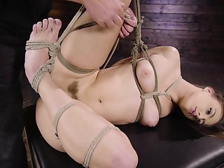 Anal bondage in rough scenes for a slaved girl