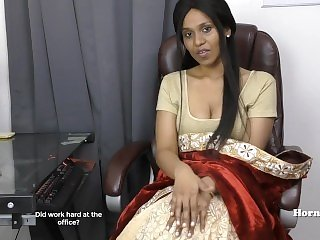 Indian Aunty seducing her cousin clutches view in Tamil carnal knowledge video