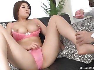 He uses toys in order here help Oshikawa Yuri reach orgasm