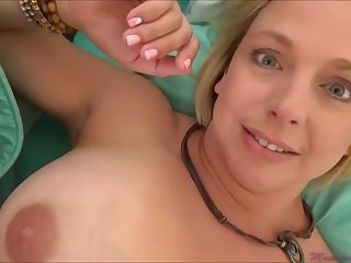Brianna Beach is a huge-boobed platinum-blonde nymph who is oftentimes providing oral jobs to much junior studs