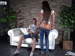 Young dude fucks two sex-appeal Czech chicks Wendy Moon and her girlfriend