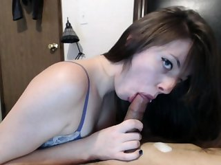 Oral creampie is all what she wanted that day