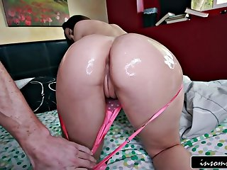 Oiled butt Dani Daniels fucked hard