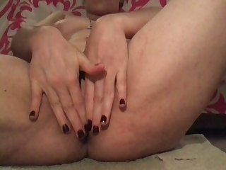 My wifey loves to tickle her muff with her toy and she loves fingering herself