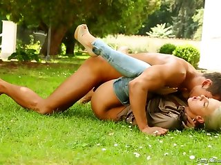 Spectacular gardener is about to nail his employer's smoking super-hot wifey and her hottest buddy