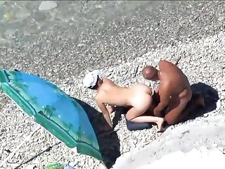 Couples On Beach Perform Doggy Position Pack
