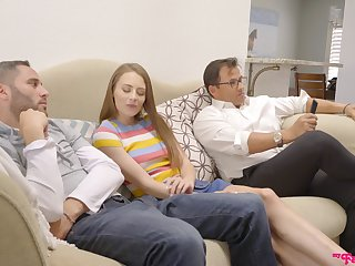 Incredible quickie in the living-room with desirable Kyler Quinn
