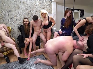Hardcore amateur group sex bisexual party with naughty Mila Sweet