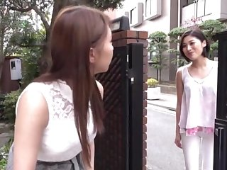 Cute Japanese chick Sunohara Miki licks her lesbian friend's puss