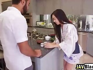 Asian stunner is having an bi-racial fuckfest escapade with a dark-hued dude she enjoys a bunch